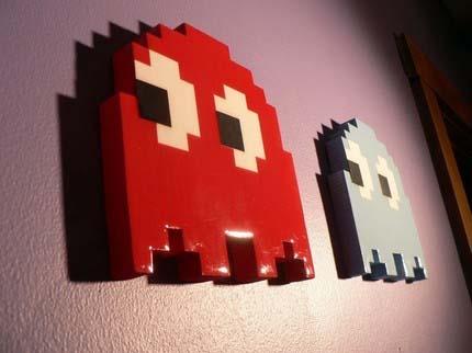 Wood Pacman Ghost 03