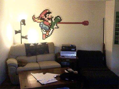 Yoshi Sticker Wall Hanging Mario