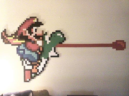 Yoshi Sticker Wall Art Mario