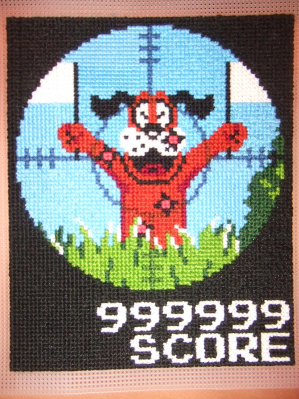 Duck Hunt Cross Stitch Dog