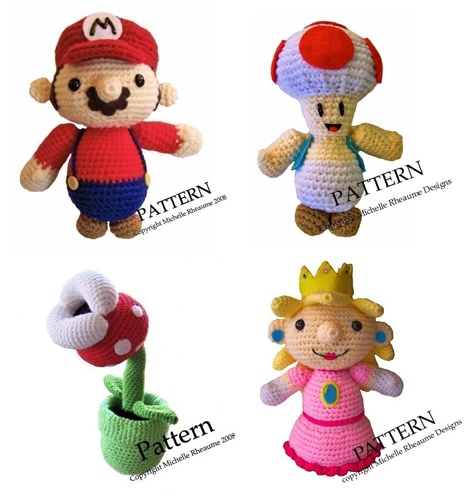 Amigurumi Mario Pattern : Mario Crochet Patterns Sprite Stitch