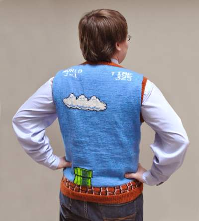 Super Mario Sweater Vest back
