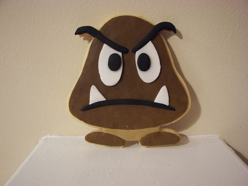Mario Goomba Cookie