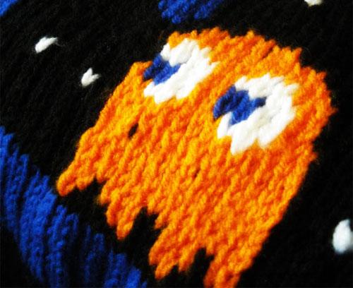 Pacman Knit Blanket