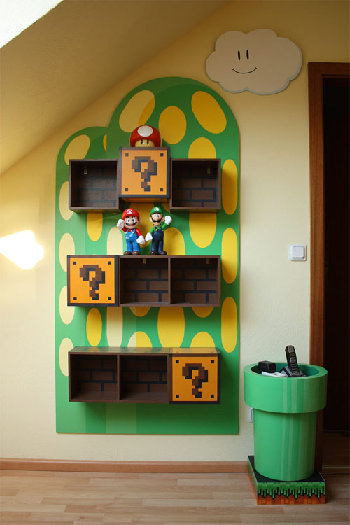 Nintendo Room Shelves