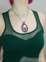 piranha mario plant necklace jewlery