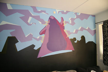 day of the tentacle purple tentacle wall mural 3