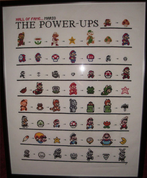 mario powerups 1 cross stitch