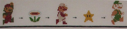 mario powerups 2 cross stitch