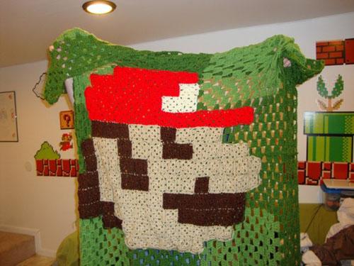 Mario blanket afghan crochet