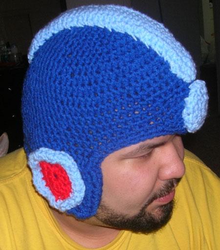 602afe204cc Crochet Megaman Helmet