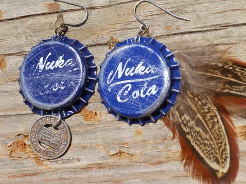 fallout nuka cola earrings sprite stitch. Black Bedroom Furniture Sets. Home Design Ideas
