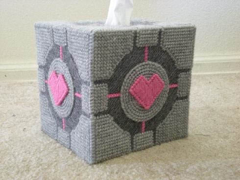 Portal Tissue Box Cover Companion Cube