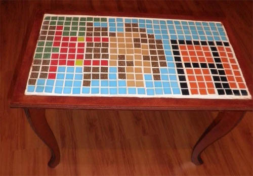 mario table mosaic