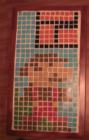 mario tile mosaic table