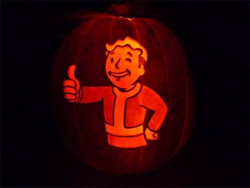 vault boy fallout pumpkin jack o lantern
