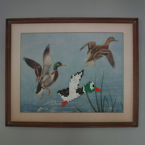 duck hunt video game wall art