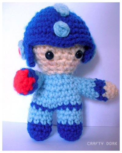 Crochet Patterns Amigurumi Monkey : Kirby and Mega Man Amigurumi Sprite Stitch
