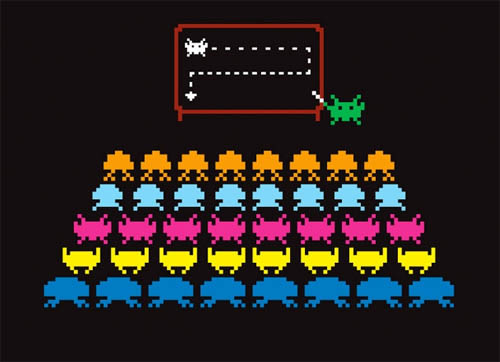 big simple plan space invaders shirt