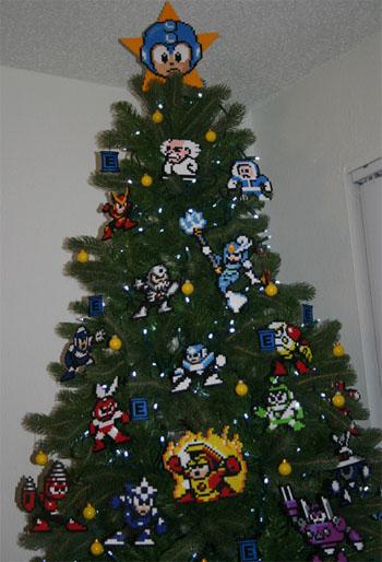 megaman mega man christmas xmas tree