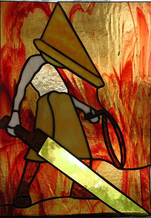 silent hill pyramid head stained glass