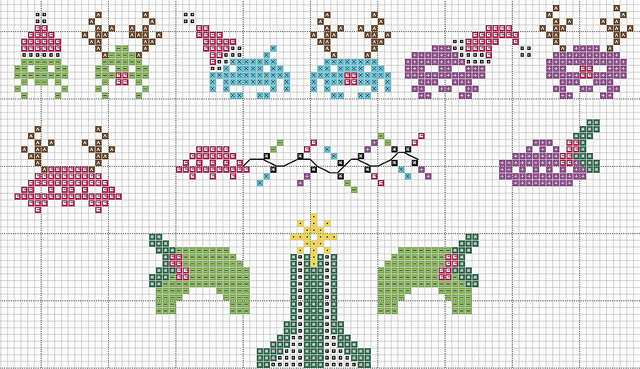 space invaders xmas christmas pattern