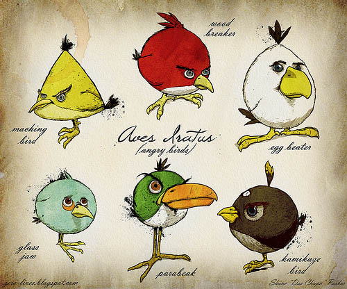Angry birds genus painting sprite stitch for Angry bird mural