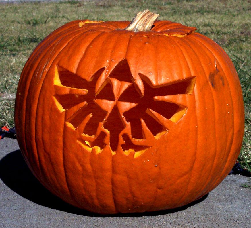 Zelda crest pumpkin sprite stitch