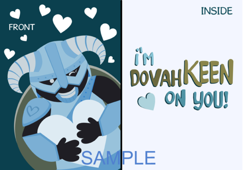 Im Dovahkeen On You Valentines Day card – Skyrim Valentines Card