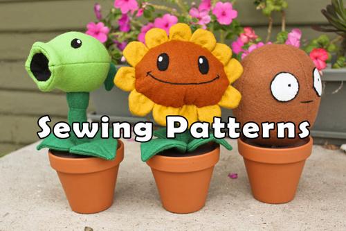 Plants vs Zombies Plushie Patterns | Sprite Stitch