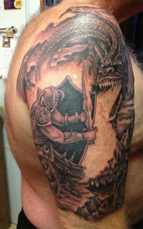 Skyrim Sleeve Tattoo
