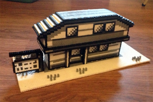 Home Sweet Home 3d Out Of Perler Beads Sprite Stitch