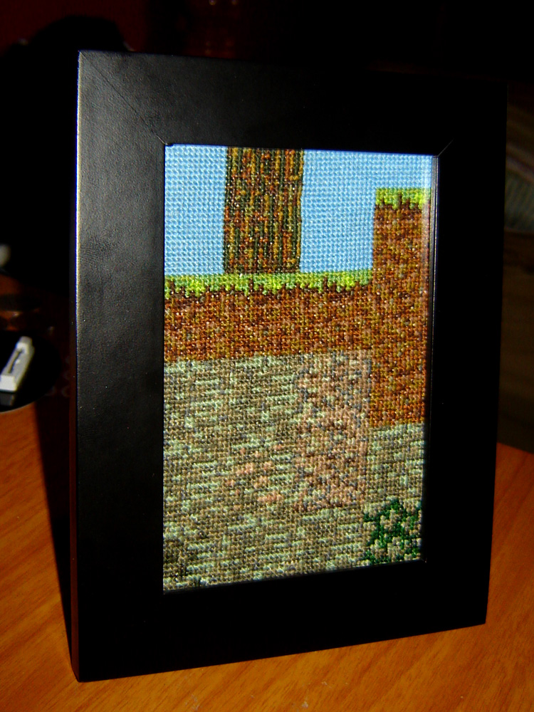 Minecraft Cut Away Cross Stitch