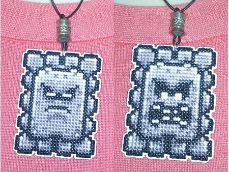 Thwomp Necklace Sprite Stitch