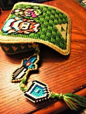 Plastic Canvas Zelda Purse Sprite Stitch