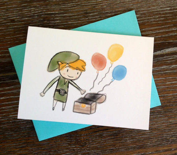 video game cards  sprite stitch, Birthday card