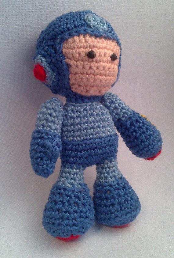 Amigurumi Tight Stitch : Megaman Amigurumi Sprite Stitch