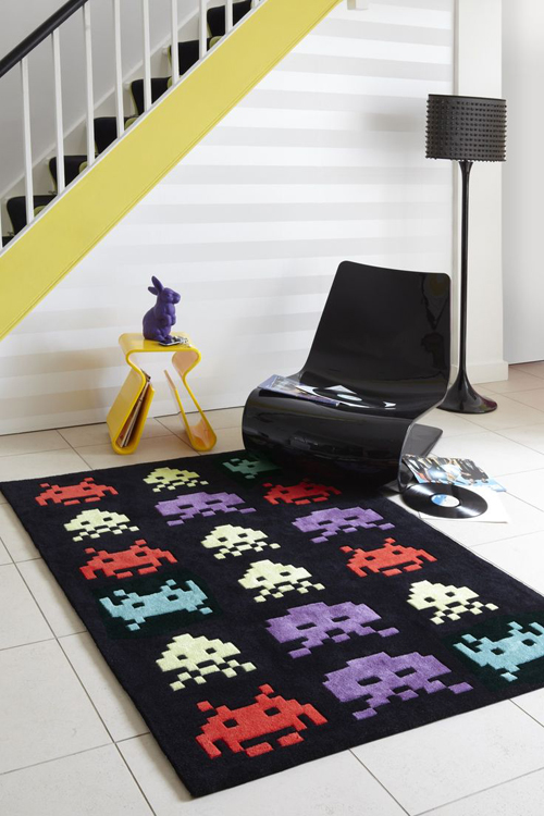Space Invaders Rug Sprite Stitch
