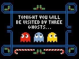 Pacman Christmas Carol | Sprite Stitch