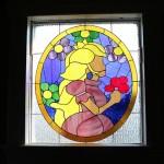 Zelda Triforce Stained Glass Window Sprite Stitch