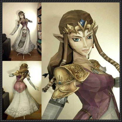 Life-Size-Princess-Zelda-Papercraft