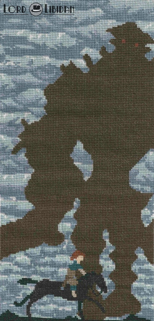 shadow_of_colossus_shadow_cross_stitch_by_lordlibidan-d7xdcor