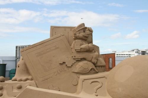 mario-sand-art