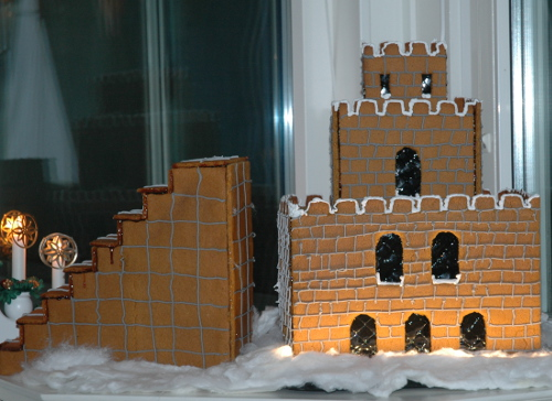 Gingerbread Mario Castle