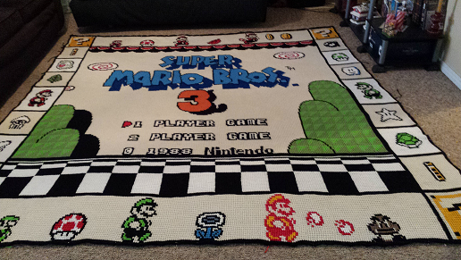 Mario Blanket by AuntTink