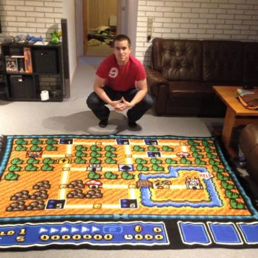 Incredible Super Mario Bros 3 Crochet Blanket
