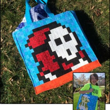 Shy Guy & Luigi Quilted Bag (plus tutorial!)