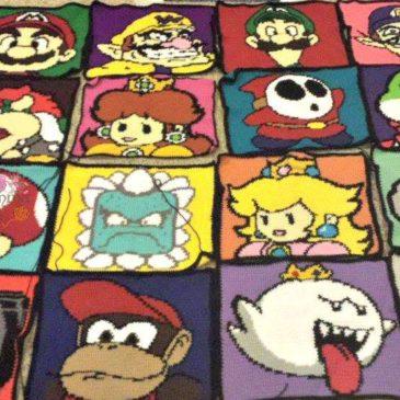 Mario Kart Characters Crochet Blanket