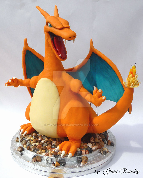 Charizard Cake by Gina's Cakes