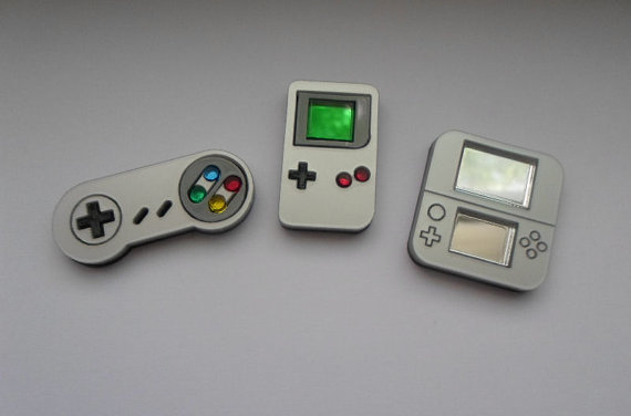 Mini Gaming System Pins by Miyuka